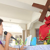 PAMPANGA. An elderly woman reads the 'pasyon', which depicts the passion and death of Jesus Christ, at the Sto. Niño Chapel, City of San Fernando, signaling the start of the Catholic community's observance of the Holy Week. (Chris Navarro)