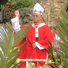 Cebu Archbishop Jose Palma led the blessing of the palm leaves on Palm Sunday at the Cebu Metropolitan Cathedral.