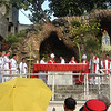 Priests led by Cebu Archbishop Jose Palma gathered on Palm Sunday at the Cebu Metropolitan Cathedral.