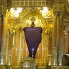 Cebu Metropolitan Cathedral covers the saints during Lent.