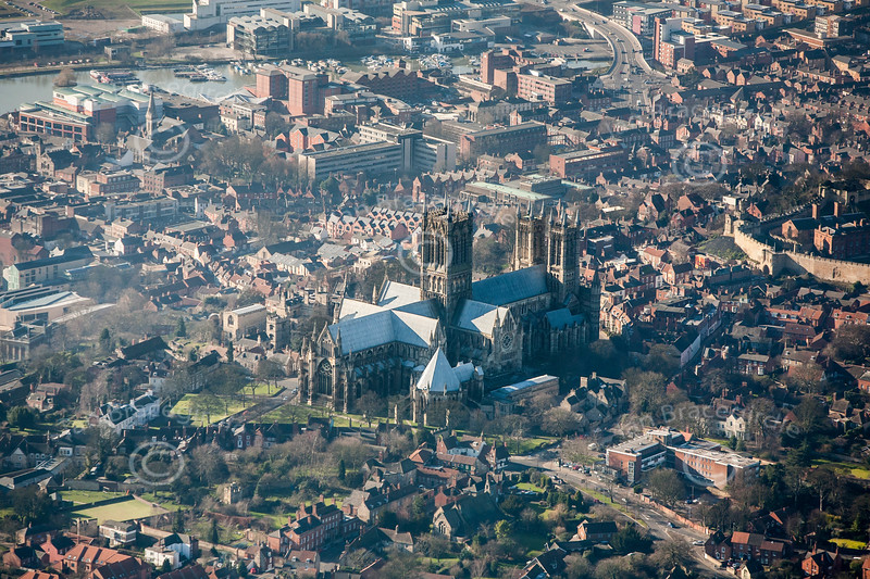 Aerial photo of Lincoln Cathedral-1