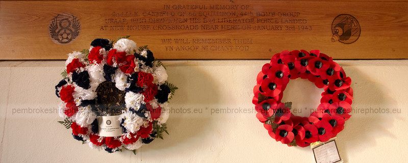 Remembrance Day. Little Newcastle Church.