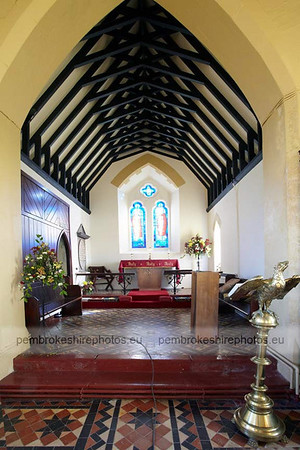 The chancel. Little Newcastle Church.