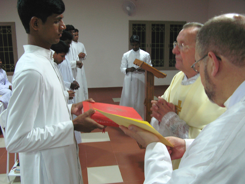 The Bible is presented to those who received the ministry of Lector.