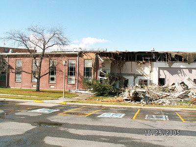 Murray South Stake Center being Torn Down (29 Oct 2005)