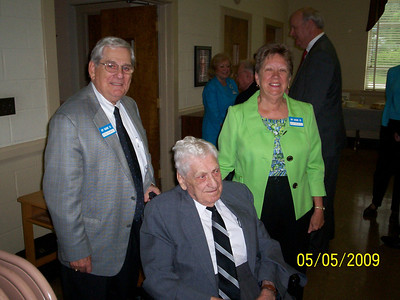 Myron's son, Jim, and daughter, Nancy Harvie, Photo Courtesy of Don Richardson