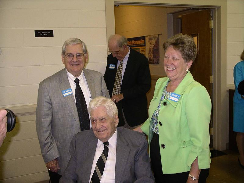 Myron's son, Jim, and daughter, Nancy Harvie, Photo Courtesy of Charles Stevens