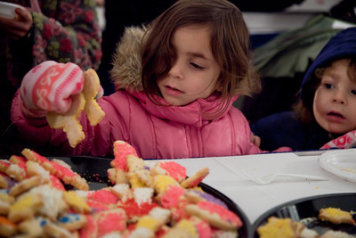 "A special lighting ceremony took place for the National Hanukkah Menorah, the world's largest, on the Ellipse, just across from the White House on the first night of the eight-day Jewish holiday. Those who attended the lighting were treated to hot Hanukkah latkes and doughnuts. The first candle was lit on Tuesday, December 20, 2011 by special guest, Office of Management and Budget Director Jacob Lew. ""The President's Own"" U.S. Marine Band, and ""The Three Cantors"" performed. The national menorah lighting dates to 1979 when Jimmy Carter was president. Hanukkah celebrates the Jewish Maccabees' military victory over Syrian oppression more than two-thousand years ago. A candle is lit each night of the eight-day celebration, commemorating the miracle of one day's supply of oil lasting a full eight days in the lamp following the rededication of the Holy Temple in Jerusalem. This annual event is sponsored by American Friends of Lubavitch (Chabad). (Photo by Jeff Malet)"
