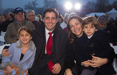 Julius Genachowski, the chairman of the Federal Communications Commission with wife Rachel Goslins and children Lilah and Aaron. Rachel Goslins  is currently Executive Director of the President's Committee on the Arts and Humanities