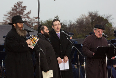 """The Three Cantors"" (Musical Director Jeff Nadel, Yaakov Motzen and Yaakov Lemmer)"