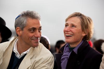 Rahm  Emanuel and wife Amy Rule