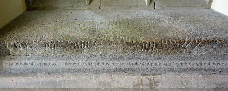 Ogham script, St Brynach's, Nevern.