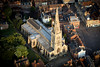 Aerial photo of Newark Parish Church.