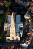 Aerial photo of Newark Parish Church.