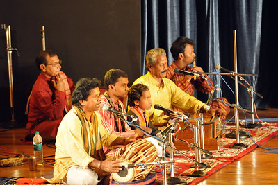 Musicians accompanying Gotipua Nritya [Konark Natya Mandap] from Odisha. An ensemble of young dancing boys from temples of Orissa create intricate desings with their tender bodies.   1st Annual Nrtya-Sura-Bharati Festival organized by Chinmaya Naada Bindu (Chinmaya Mission) was held from 24th December to 01st January, 2011 at Chinmaya Vibhooti, Kolwan, Maharashtra.  An 8-day Residential Performing Arts-Experience. Classical concerts by India's master virtuosos and youth performers & 6-Day Performing Arts. Intensives in Dance (Bharata Natyam), Music (Hindustani, Devotional & Western Classical) were held. For more details see:   http://www.chinmayaswaranjali.org/chinmaya_naada_bindu.htm