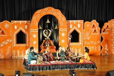 "Bhajans by Pramodini Rao (Resident Director,CNB) & Ujwala Acharya (Mumbai).  1st Annual ""Nrtya Sura Bharati Festival"" organized by Chinmaya Naada Bindu (Chinmaya Mission) was held from 24th December to 01st January, 2011 at Chinmaya Vibhooti, Kolwan, Maharashtra. India - an 8-day residential performing arts experience.  Classical concerts by India's master virtuosos and youth performers & a 6-Day performing arts event. Intensives in Dance (Bharata Natyam), Music (Hindustani, Devotional & Western Classical) were held. For more details see:   http://www.chinmayaswaranjali.org/chinmaya_naada_bindu.htm"