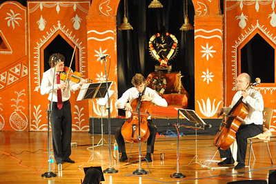 Western Violin & Cello - Gerard & Antom Spronk (Netherlands)   1st Annual Nrtya-Sura-Bharati Festival organized by Chinmaya Naada Bindu (Chinmaya Mission) was held from 24th December to 01st January, 2011 at Chinmaya Vibhooti, Kolwan, Maharashtra.  An 8-day Residential Performing Arts-Experience. Classical concerts by India's master virtuosos and youth performers & 6-Day Performing Arts. Intensives in Dance (Bharata Natyam), Music (Hindustani, Devotional & Western Classical) were held. For more details see:   http://www.chinmayaswaranjali.org/chinmaya_naada_bindu.htm