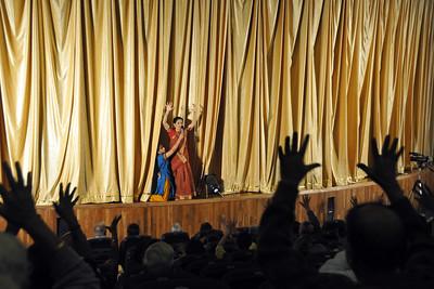Ms Ramaa Bharadvaj, Director - Dance, Chinmaya Naada Bindu (CNB). 1st Annual Nrtya-Sura-Bharati Festival organized by Chinmaya Naada Bindu (Chinmaya Mission) was held from 24th December to 01st January, 2011 at Chinmaya Vibhooti, Kolwan, Maharashtra.  An 8-day Residential Performing Arts-Experience. Classical concerts by India's master virtuosos and youth performers & 6-Day Performing Arts. Intensives in Dance (Bharata Natyam), Music (Hindustani, Devotional & Western Classical) were held. For more details see:   http://www.chinmayaswaranjali.org/chinmaya_naada_bindu.htm