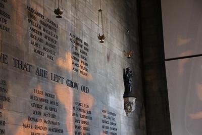Wall of The Memorial Chapel 28 April 2012