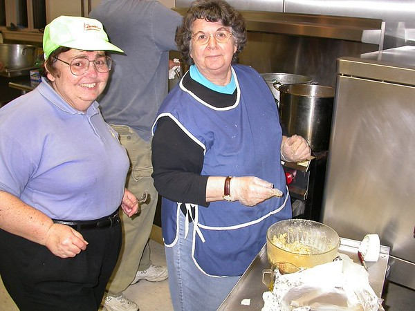 Rhoda Feldman and Evelyn Weindling  Making Matzah Balls!