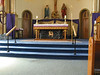 The altar is made from anthracite coal.