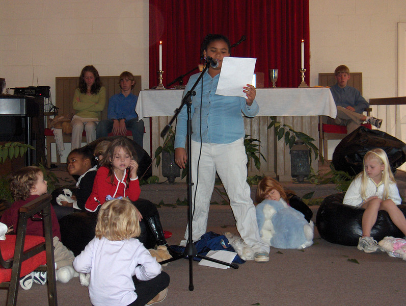 Youth leading our Youth Sunday Worship