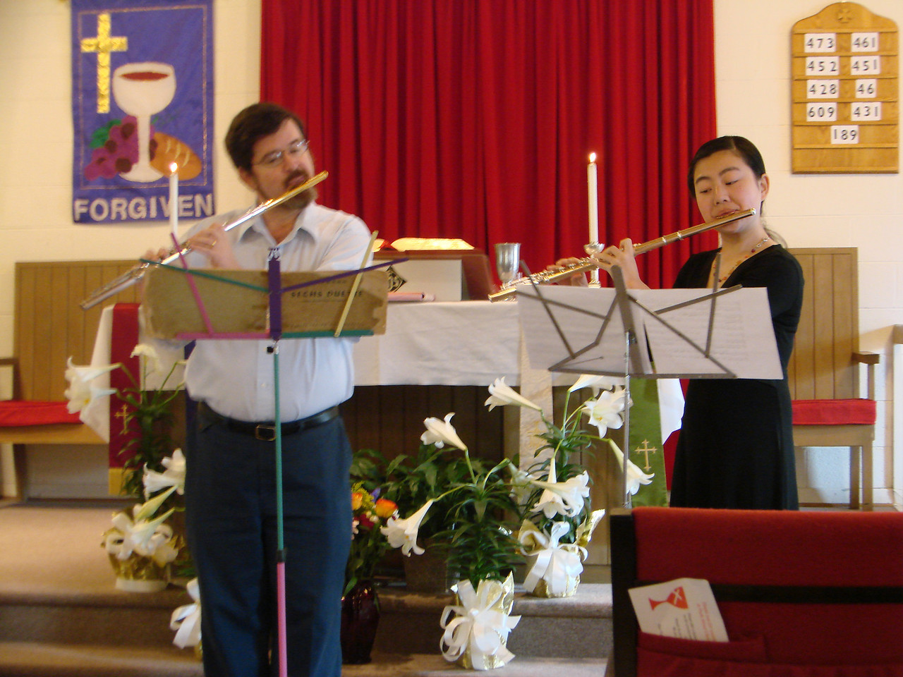 Alan Cox and his student, Jiahao Wang, share their gift of music