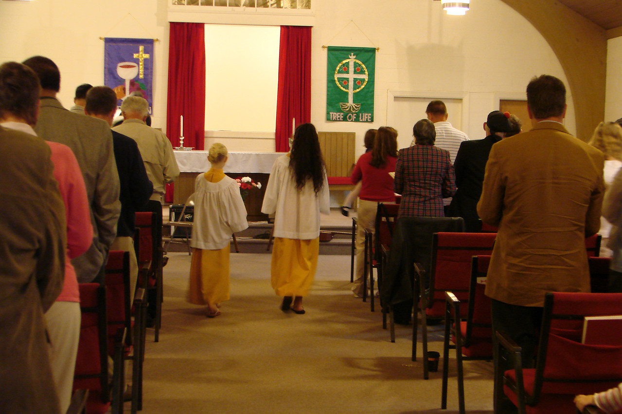 Children serving as Acolytes begin our worship every Sunday