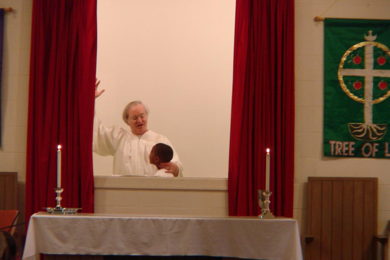 The baptism of Aaron Burton