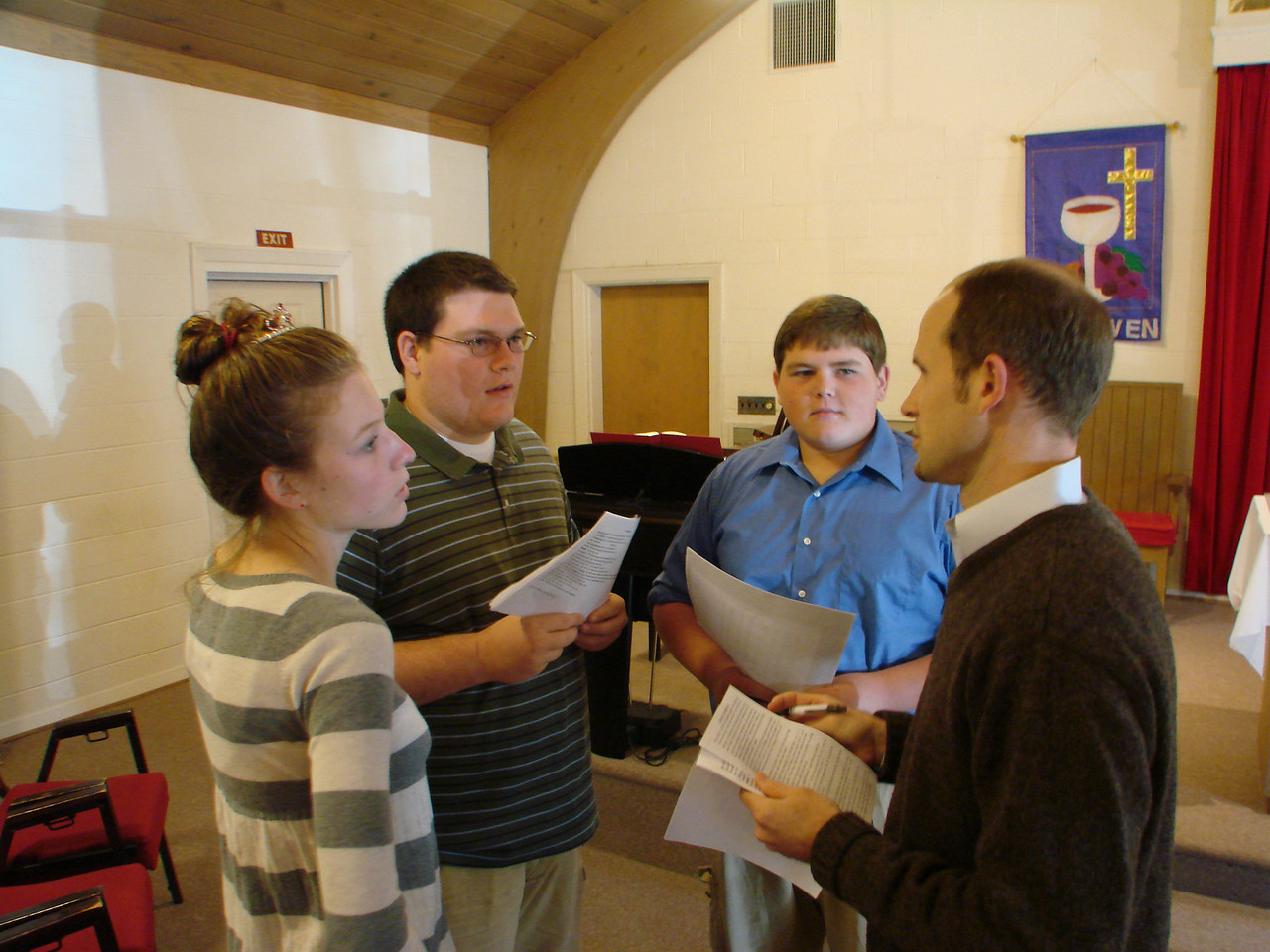 Our church youth working with our Youth Coordinator, Robert Sharp (right)