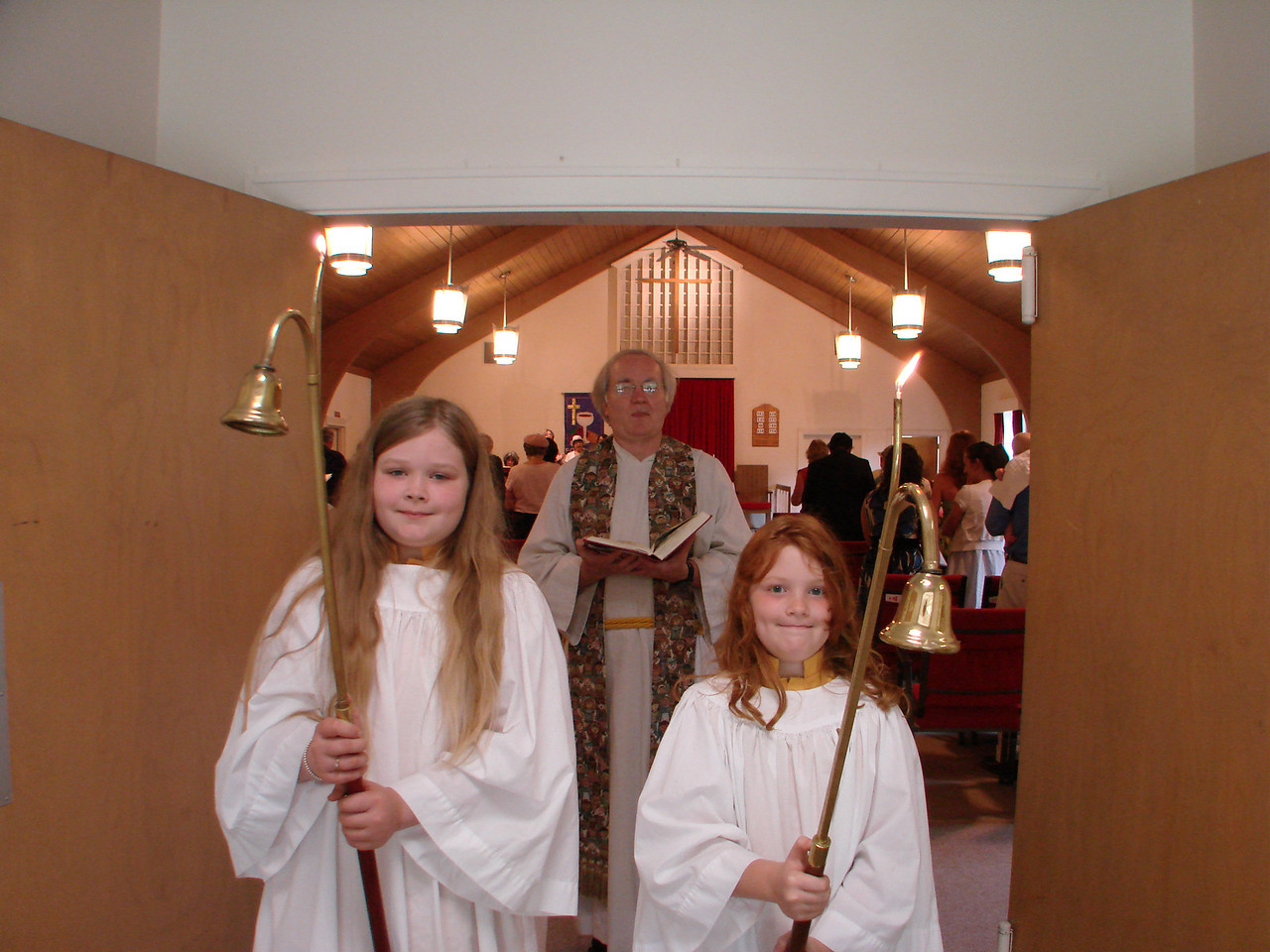 Children serving as Acolytes conclude our worship every Sunday