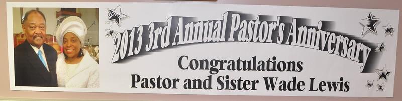 Pastor Lewis 3rd Apprecaition