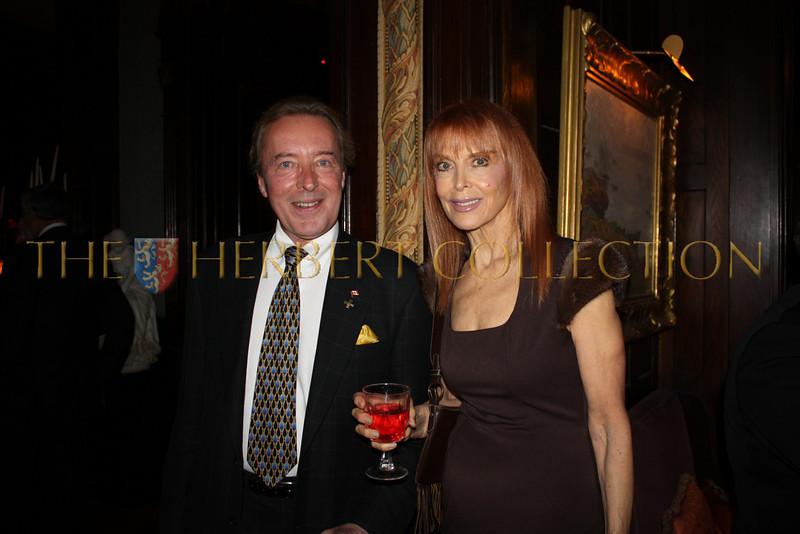 Publicist John Wegorzewski and actress Tina Louise