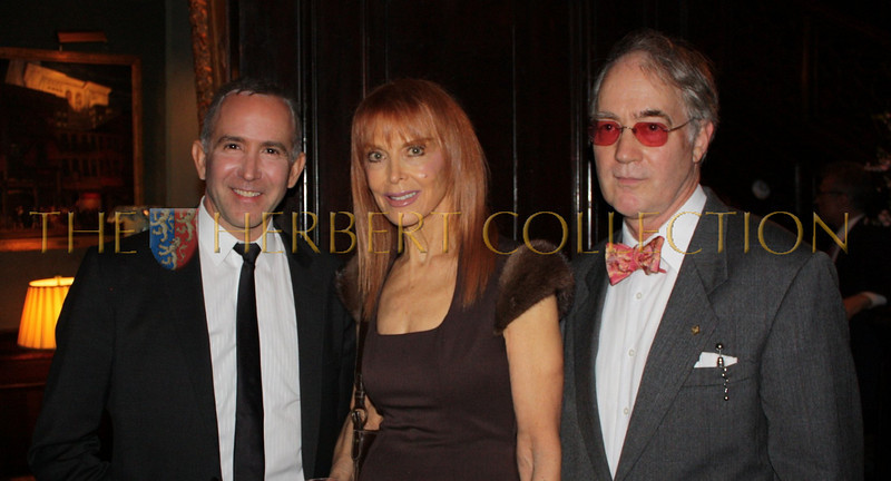 Dionisio Fontana, actress Tina Louise, O. Alden James Jr., President of The National Arts Club