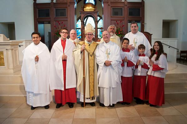 Post-Mass Photos Following Confirmation at Corpus Christi May 17 2014