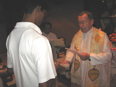 Each Postulants receives a juba (Indian upper garment)