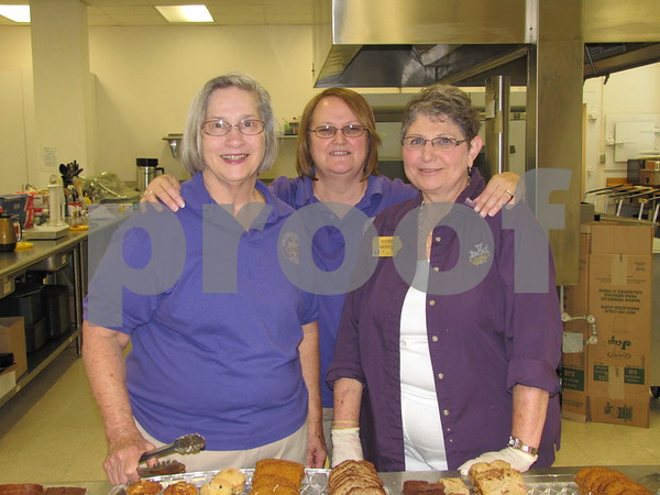 Members of Catholic Daughters of America Kitty Nelles, Mary Brezoban, and Rosemary Reddey.