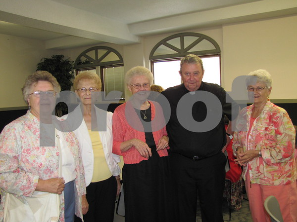 Lauanne Crouse, Marilyn Dunn, Sister Sara McAlpin, Father Jim McAlpin, and Marilyn Dunn-Babbit.