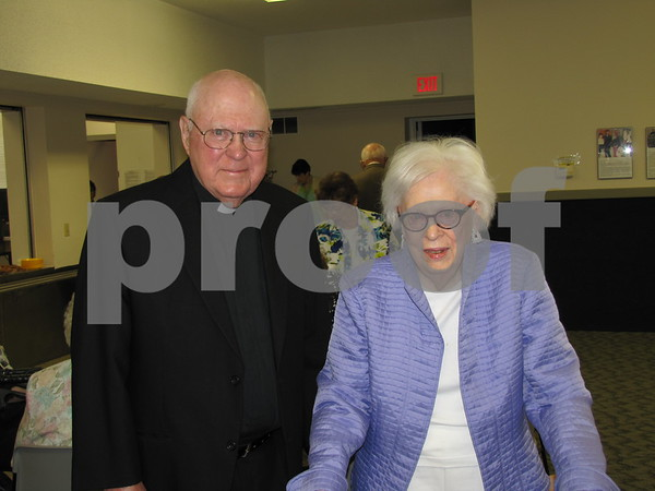Msgr. Tom Donahoe with his sister Lucille Donahoe.