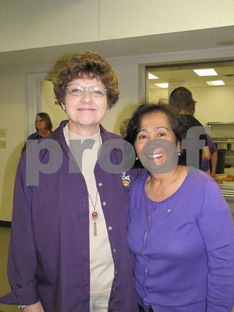 Barb Pessica and Ida Burleson.