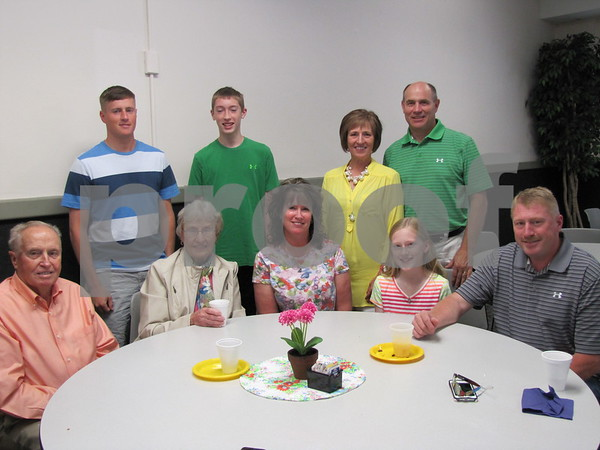 The Rathermel and Dooley families attended the Priest Jubilee Celebration at Holy Trinity Parish.