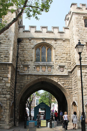 South side of St John's Gate, Clerkenwell. 23 May 2012