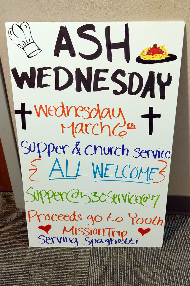 Ash Wednesday Spaghetti Supper