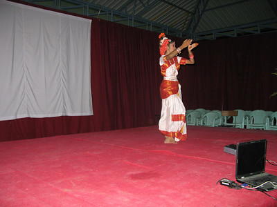 An Indian classical dancer opens the cultural program during the evening reception.