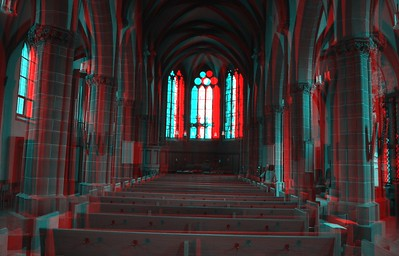 Church Interiors in Anaglyph Stereo