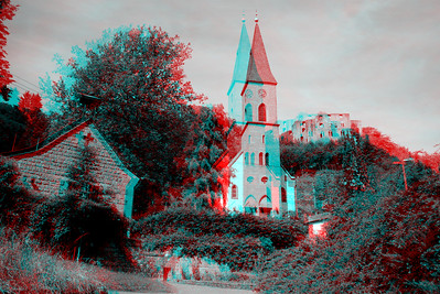 Churches of Europe in Anaglyph Stereo for Ebook