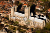 An aerial photo of Lincoln Cathedral, Lincolnshire