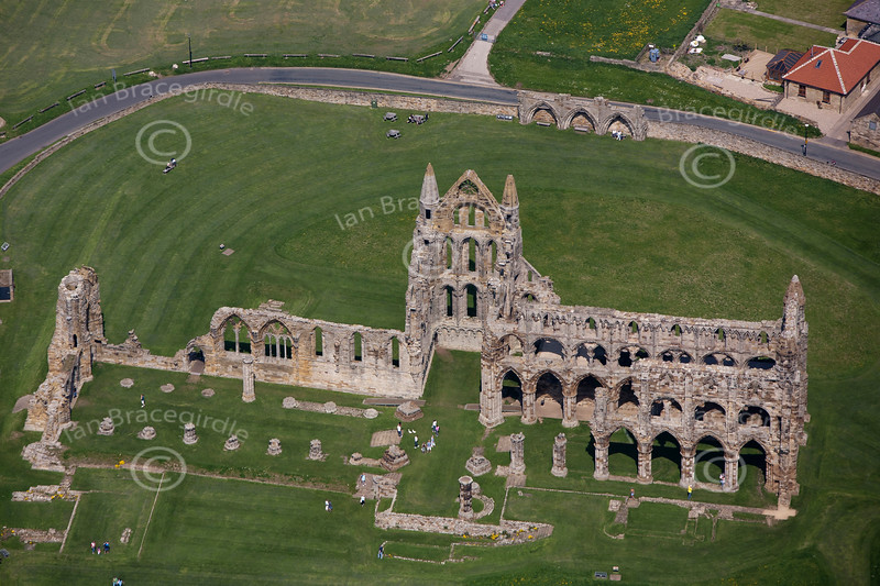 Aerial photo Whitby Abbey.