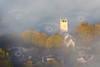 An aerial photo of Hawton Church in Nottinghamshire.