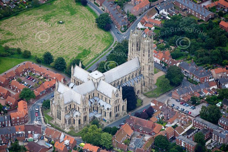 Aerial photo of Beverley Minster.